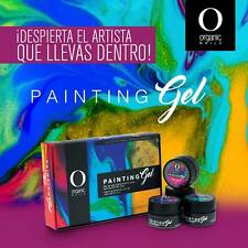 painting color gel Organic nails set #2