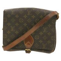 LOUIS VUITTON Monogram Cartouchiere GM Shoulder Bag M51252 LV Auth hk010