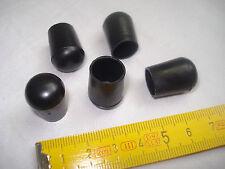 16 patins de chaise table embouts PVC noir pour tube  diamètre 12 mm