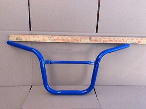 "BLUE BMX ""Box Handlebars"" 1976 1977 1978 NOS Old School Mongoose Motomag Webco"
