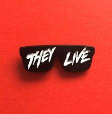 "John Carpenter They Live inspired ""Sunglasses"" soft enamel pin badge"