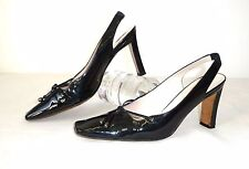 DIOR 38,5 Leder Pumps Lackleder Schwarz High heels patent leather Schuhe shoes