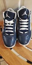 NIKE 2011 JORDAN AIR MAX 360 BIG UPS PATENT LEATHER SUEDE BLUE WHITE SIZE 11