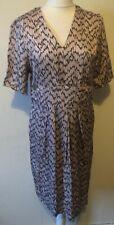 Noa Noa V-neck Dusky Pink Patterned Dress Size 12 EU 38