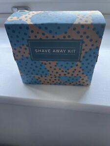 Body Shop Shave away kit maca root and aloe shaving cream , cloth ,brush set