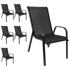 Stapelbare Gartenstühle Terrassenstuhl Stapelstuhl Balkonstuhl Schwarz 6 Stück
