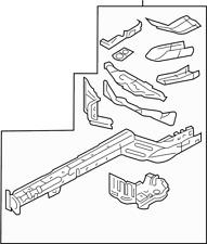 ford genuine oem rear car truck fenders ebay 1971 AMC Mach 1 Mustang 2010 2014 ford mustang oem left rear fender rail assembly ar3z 16055 b