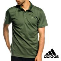 Adidas Mens HT ClimaLite Polo Shirt Top Tee Green Casual Free Tracked Post