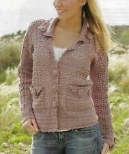 Dazzling Details Jacket Sweater 4 Sizes Women'S Crochet Pattern Instructions