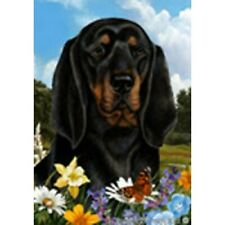 Summer House Flag - Black and Tan Coonhound 18402