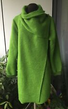 Size 16,18,20,22 Lime Green Felt Coat, Quirky, Lagenlook, Boho