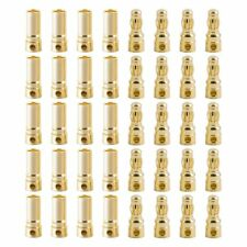 20 Pairs 3.5Mm Gold Plated Male And Female Banana Plug Bullet Connector Plug S (