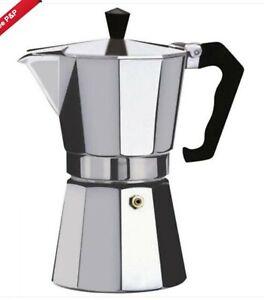 Coffee Maker Cafetiere Espresso Stove Hob Top Moka Aluminium 2 Cup Percolator US