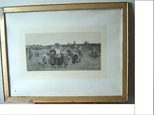 Gravure eau-forte, Jules BRETON (1827-1906), Le rappel des glâneuses