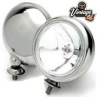 Classic Car 12V Polished Stainless Steel Chrome Front Spot lights Spot Lamps