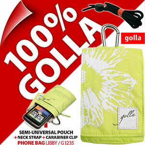 Golla Green Phone Case Pouch Bag for iPhone 4S 5S SE, Samsung Galaxy S2, S3 Mini