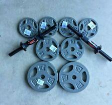 40Lb Total Adjustable Cap Dumbbell Set (2) 10Lb Plates 2- 5Lb 4-2.5LB 2 Handles