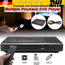 DE CD DVD UHD Spieler mit USB AV Anschluss+Wireless Fernbedienung für TV Player