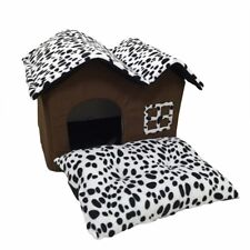 High-End Soft Sided Indoor Collapsible Small Dog or Cat House with Cushion