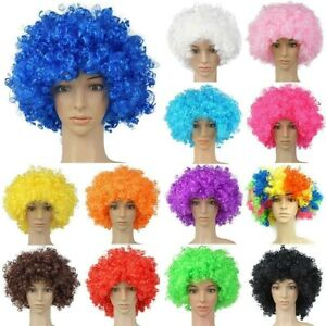 70s Afro Wig Curly Fake Hair Adults Disco 1970s Fancy Dress Costume Accessory