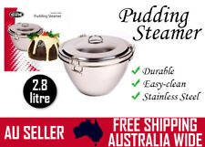 Easy Clean Stainless Steel Pudding Steamer Christmas Xmas Fruit Cake Bowl 2.8 L