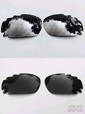 POLARIZED CHROME SILVER MIRROR & ONYX BLACK OAKLEY JAWBONE RACING JACKET LENSES