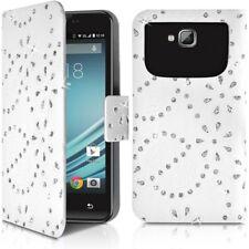 Housse Etui Portefeuille Diamant Universel XL Blanc pour Smartphone Blackphone B
