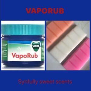 Vicks Dupe vaporub Scented Wax Melts Snapbars Menthol Eucalyptus/camphor Blend