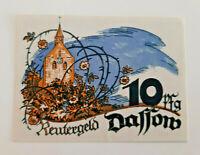 DASSOW REUTERGELD NOTGELD 10 PFENNIG 1922 NOTGELDSCHEIN (10729)