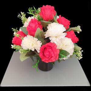 Christmas Grave pot. Crem Pot. Artificial Flower arrangement. Xmas Memorial.