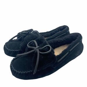 UGG Dakota Double Bow Slippers Shoes Black Women's 10 NIB Free Shipping