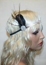 Feather Vintage Headpiece,1920s Great Gatsby Headband, Soft Headband
