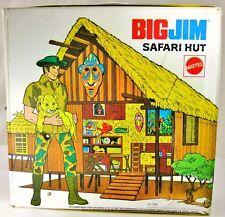Big Jim Safari Hut Mattel 7628  Fold-out Hut/ Camp House with Two Chairs