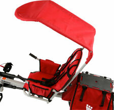 Weehoo All Weather Canopy Red + Rain Cover & Hardware for Bicycle Child Trailer