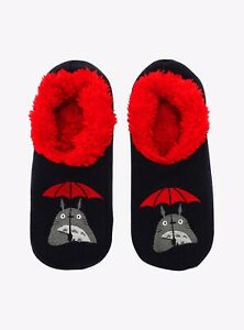 Studio Ghibli My Neighbor Totoro Umbrella Slipper Sock Anti Slip Women Shoe 5-10