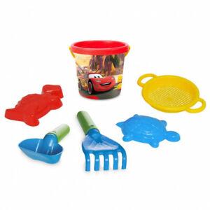 6 pc Beach Toys for Kids, Bucket, Shovel Sand Sandbox Outdoor Sand Play Kit
