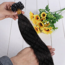 50S Natural keratin Capsule prebonded U/Nail Tip Remy Human Hair Extensions