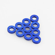 10PC 3mm x 6mm x 1.5mm Aluminum Alloy Blue Flat Washer/Spacer/Standoff