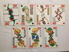 Lot 7 Carte Joue Avec Cedric Melusine Papyrus Kids Paddle - Supplement Spirou