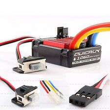 HobbyWing QuicRun 1:10 Waterproof Brushed 60A ESC EP RC Car Buggy Touring 1060 G