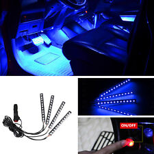12 LED Blue Car Cigarette Lighter Atmosphere Light Decor Neon Interio Lamp Strip