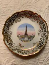 Porcelain d' Art Eiffel Tower Trinket Dish Limoges France Authentique