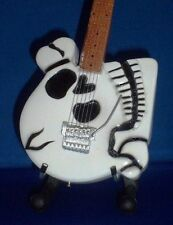 Mini Guitar POISON CC DEVILLE Skull GIFT Memorabilia FREE STAND Display ART