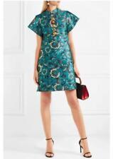 DOLCE & GABBANA Metallic Jacquard Short Sleeve  Dress Size:40/4  $2675 NWT
