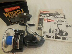 VINTAGE GARCIA MITCHELL  900  SPINNING REEL 1978 BOX AND PAPERS MADE IN FRANCE