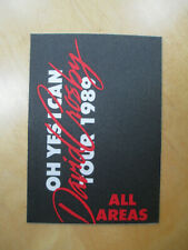 David Crosby - Oh Yes I Can Tour 1998 - Backstage Pass