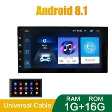"""1G +16G 7"""" Android 8.1 2 Din coche reproductor de video multimedia de radio FM Stereo Gps Mapa"""