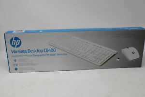 HP Wireless Tastatur Maus Desktop Set C6400 Weiß F2D48AA#AKE ROM ITA