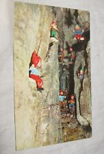 Jolly Gnomes at Play In Fairyland Caverns Tenn Vintage Unused Postcard