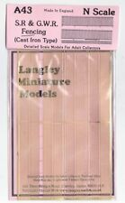 Langley Models SR / GWR Fencing N Scale UNPAINTED Brass Metal Kit A43